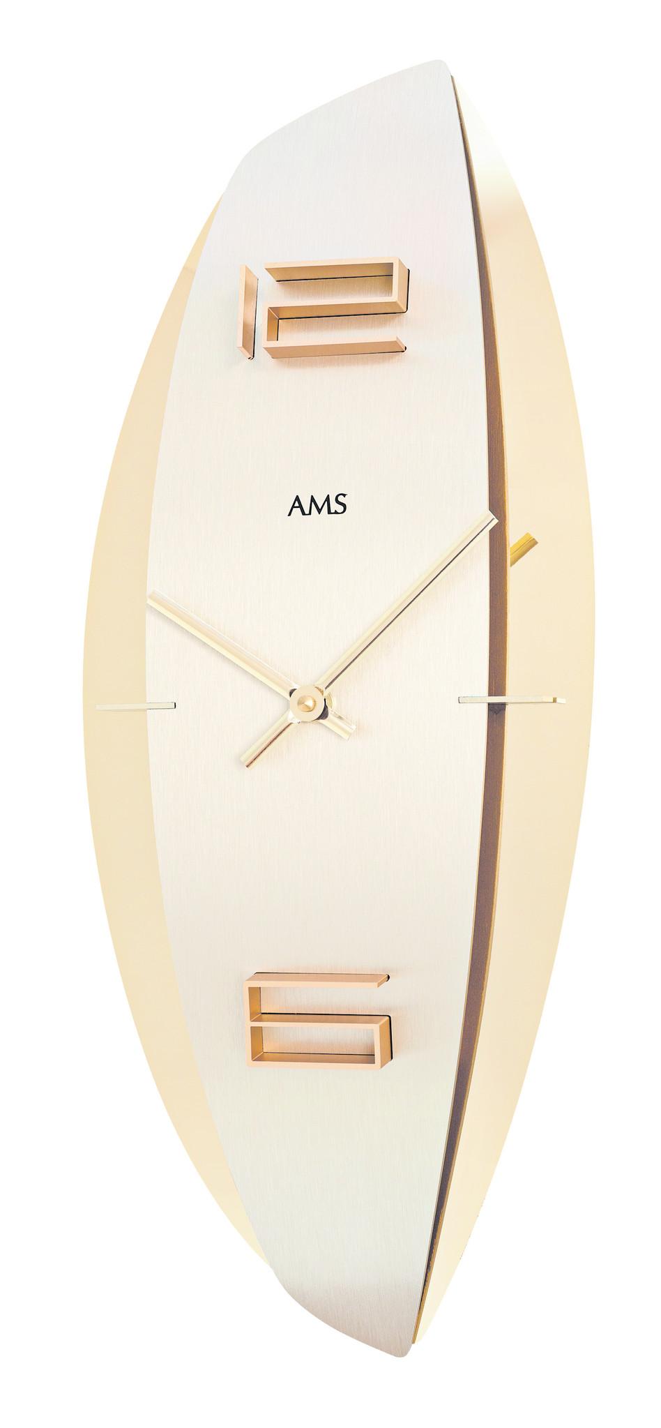 AMS Wandklok AMS STAR GOLD Modern Design