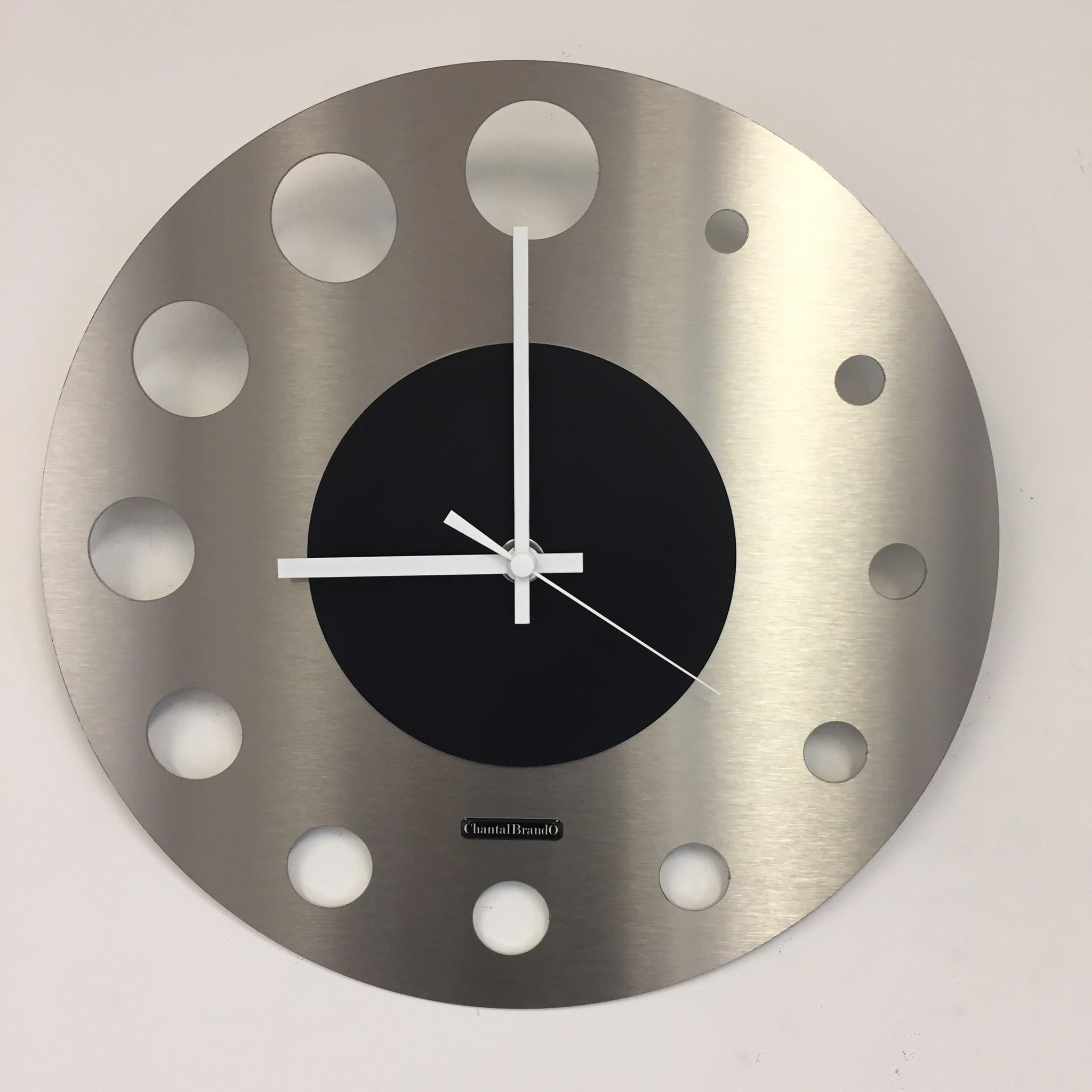 ChantalBrandO Wandklok JUNTE BRUSSEL ATOMIUM Black Modern Design