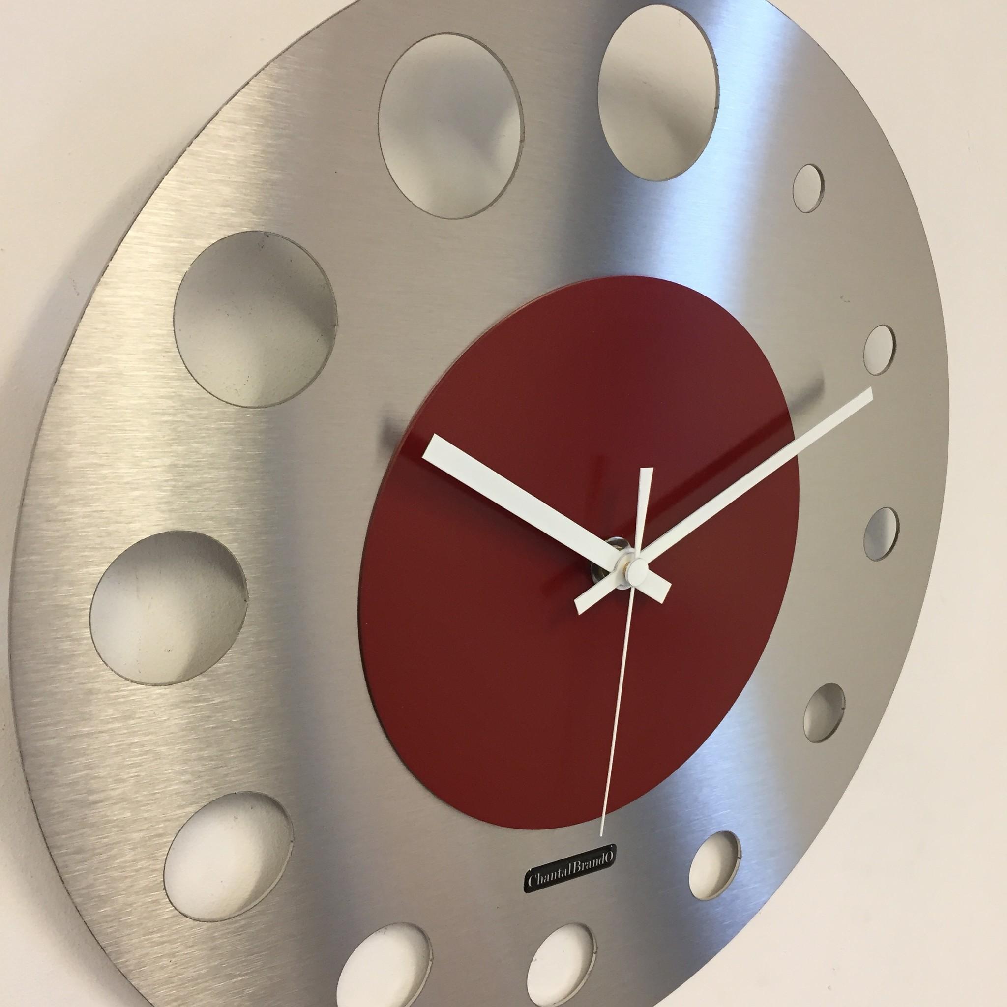 ChantalBrandO Wandklok JUNTE BRUSSEL ATOMIUM RED Modern Design