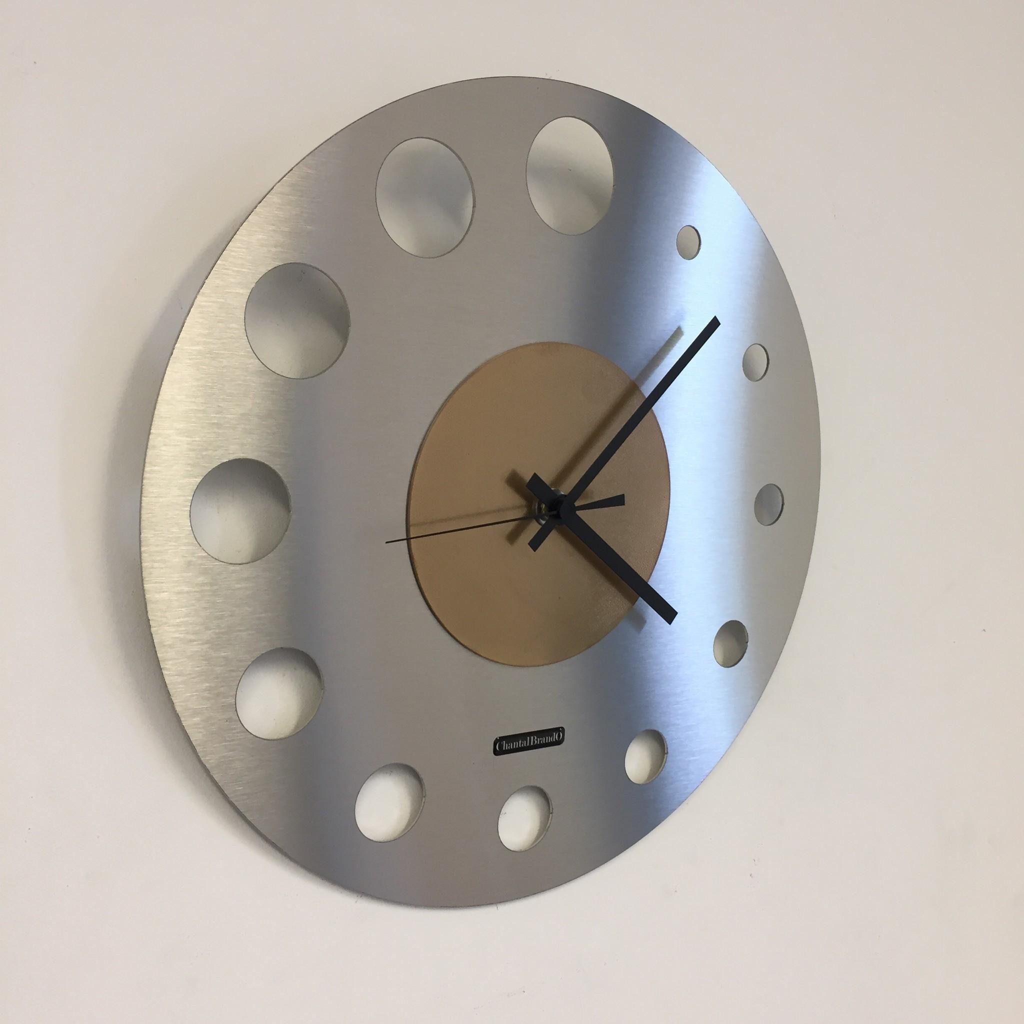 ChantalBrandO Wandklok JUNTE BRUSSEL ATOMIUM GOLD Modern Design