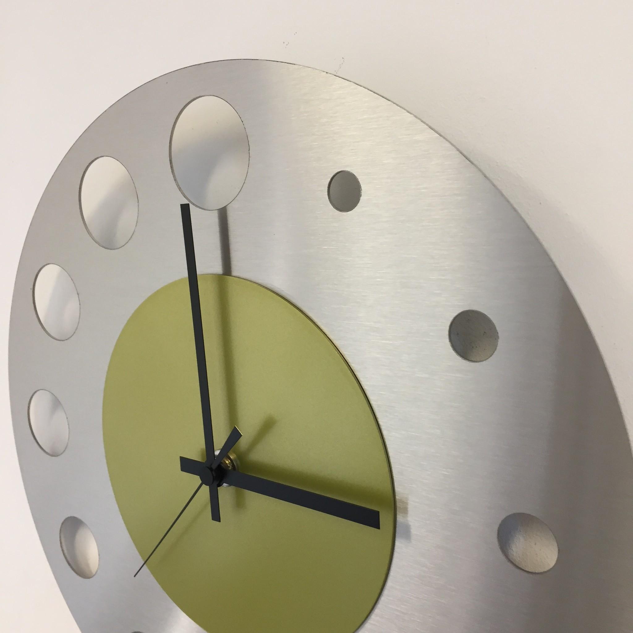 ChantalBrandO Wandklok JUNTE BRUSSEL ATOMIUM LIME GREEN Modern Design