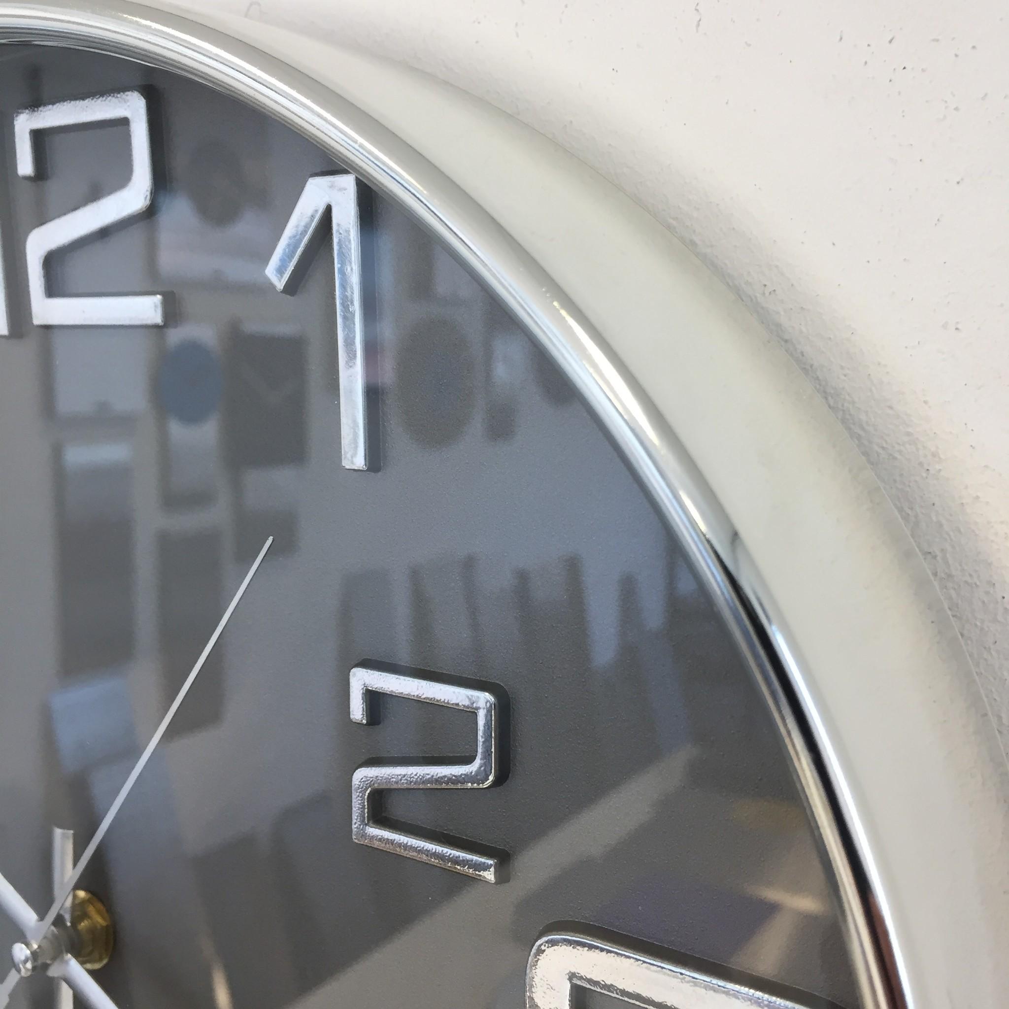 Saramax Wandklok BIG 6 grijs modern design