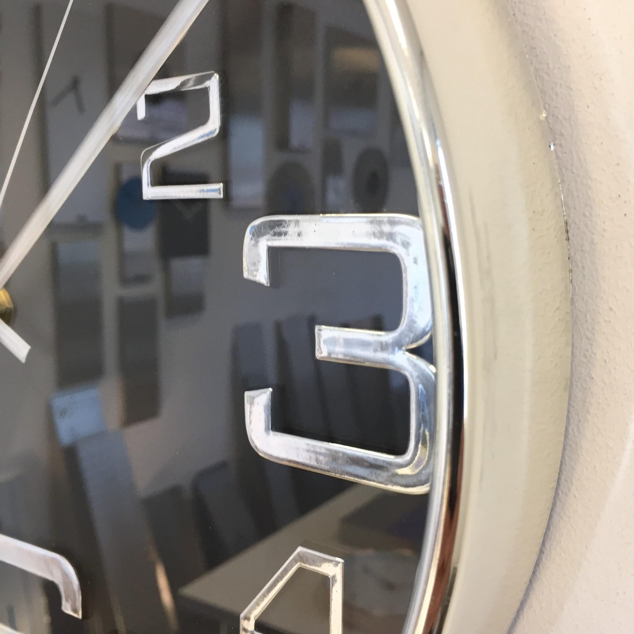 Saramax Wandklok BIG 6 zwart modern design