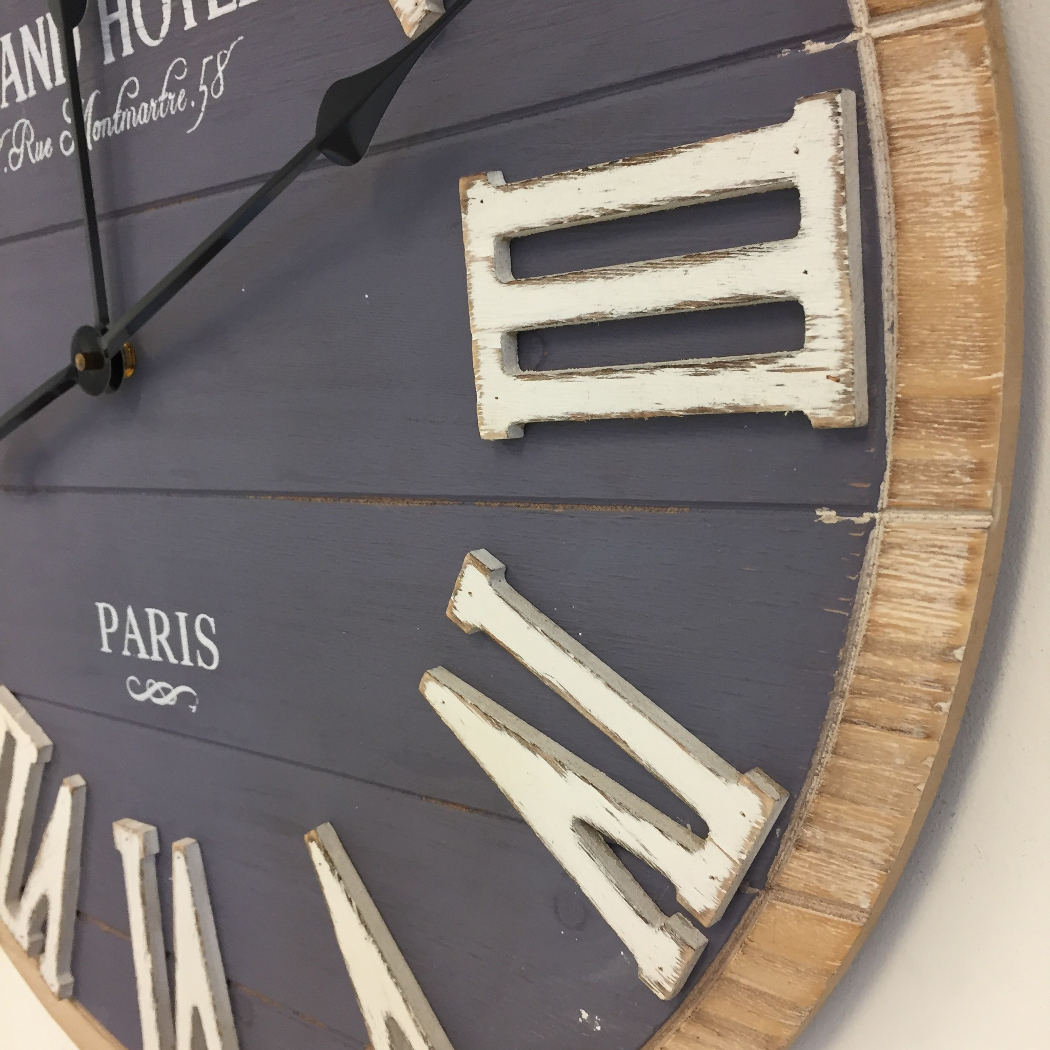 Saramax Wandklok Montmartre Industrieel design