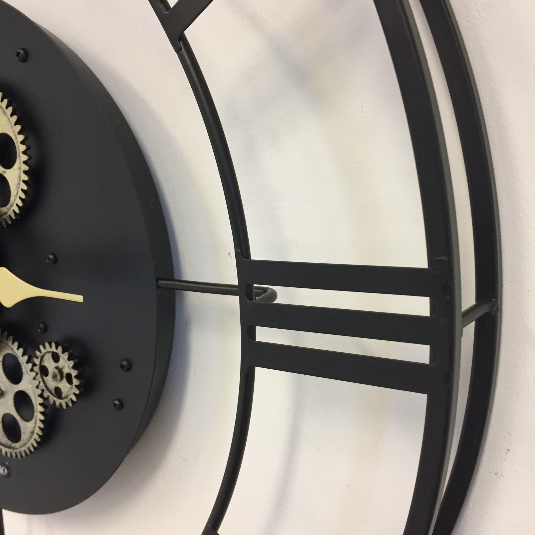 ChantalBrandO Wandklok BLACK GEAR 57 INDUSTRIEEL DESIGN