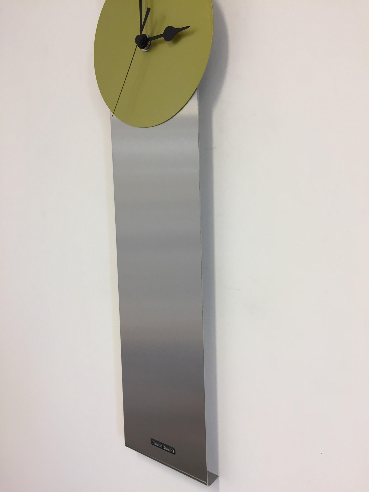 ChantalBrandO Wandklok Obelisk Limoen Groen DUTCH DESIGN