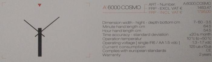 COSMO WANDKLOK 6000
