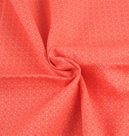 Poplin stars-dots roze
