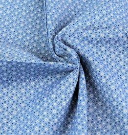 Poplin circles blauw