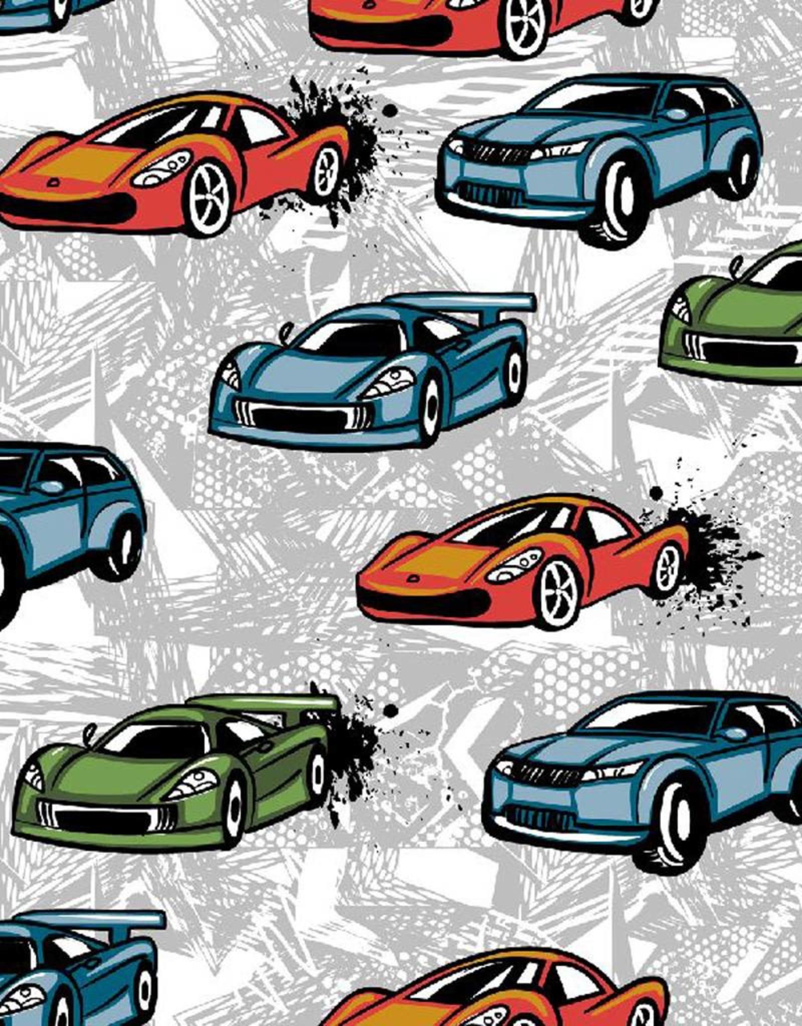 Poppy *Sweat racing cars grijs
