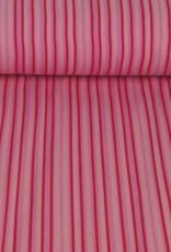 Tricot katoen stripes roze