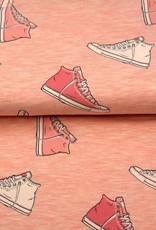 *Tricot sweat melange shoes roze