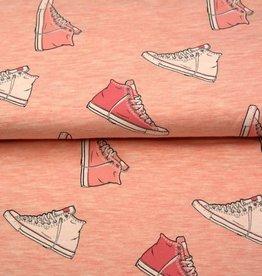 Tricot sweat melange shoes roze