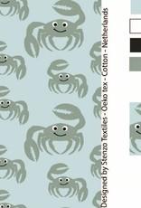 Tricot bio katoen crab groen