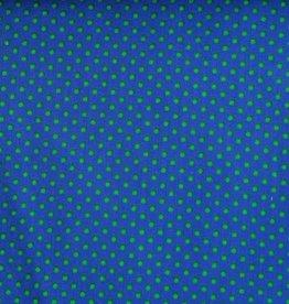 Poplin dots blauw groen