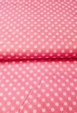 Poplin dots roze