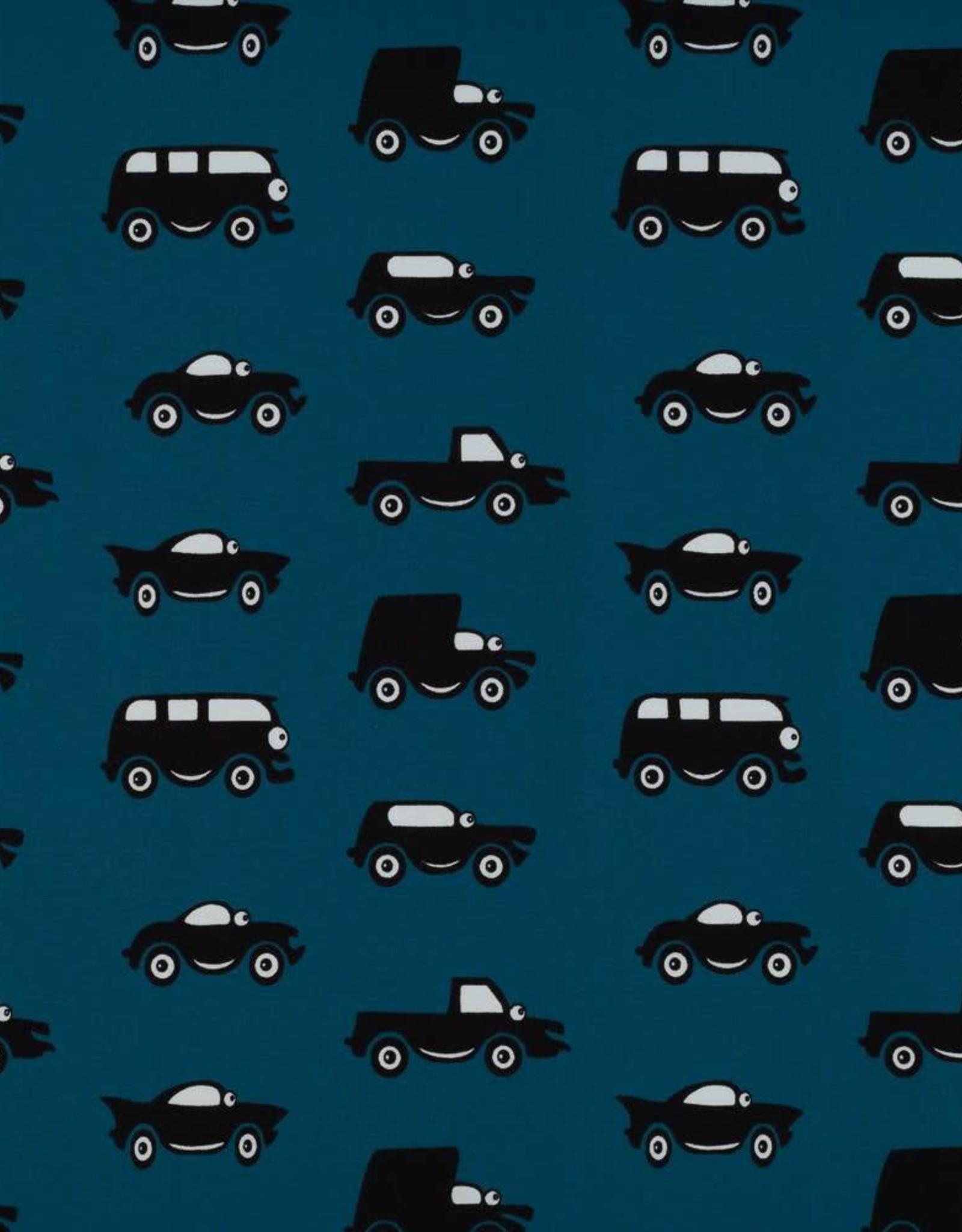 Swafing *Tricot katoen cars blue