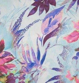 Silky chiffon digi print flowers