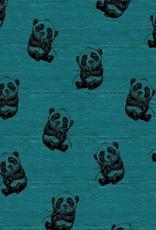 Poppy Tricot panda dream blauwgroen