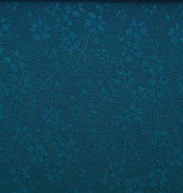 Poppy Jacquard flower blauw