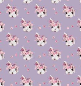 Poppy Sweat rabbit bella paars