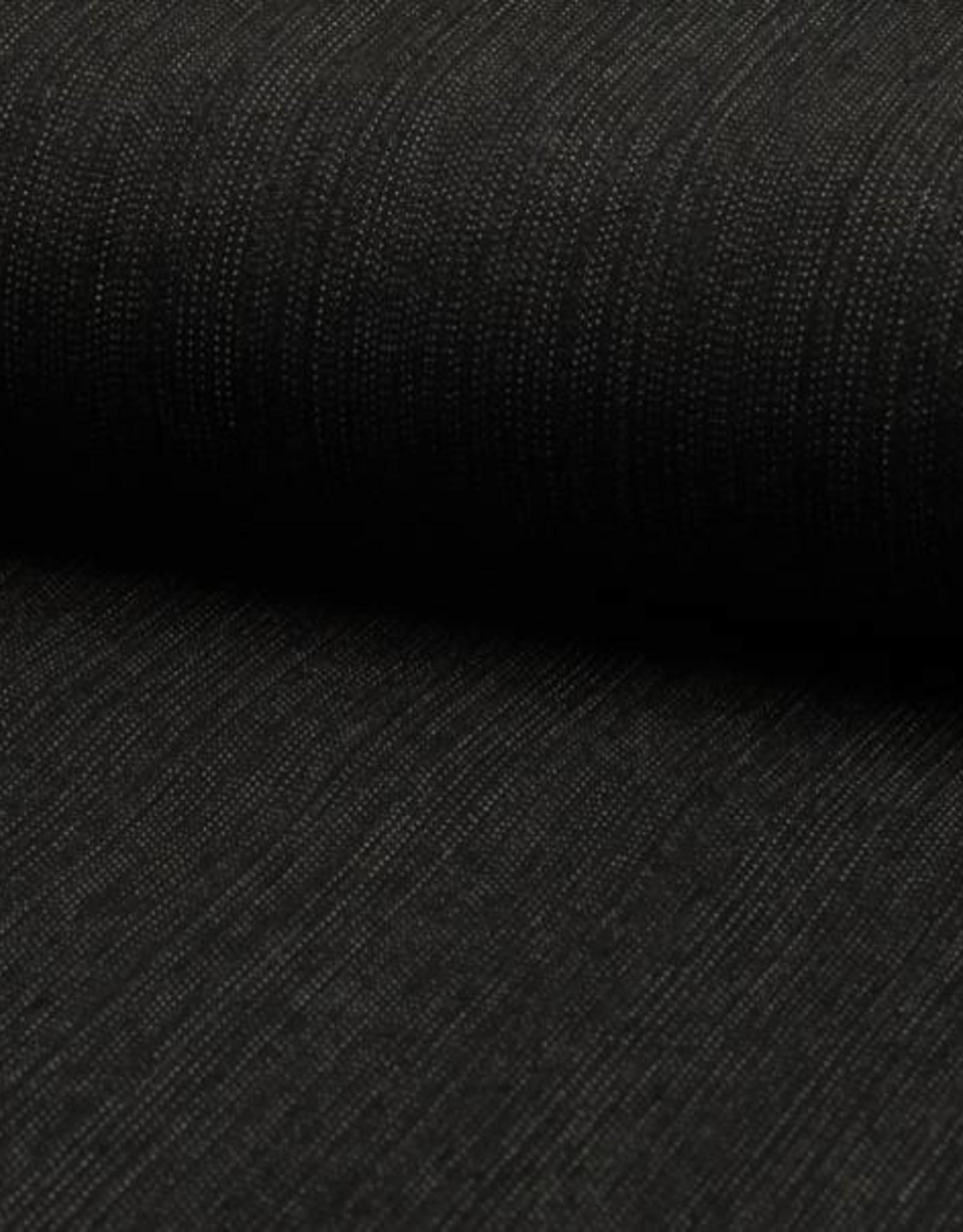 Denim slub stretch zwart