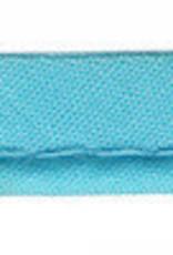 Paspelband aqua blauw