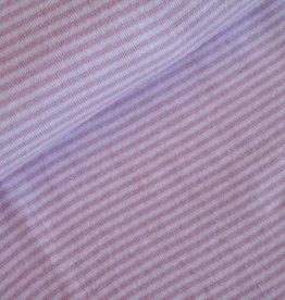 Boordstof Strepen Roze/Wit
