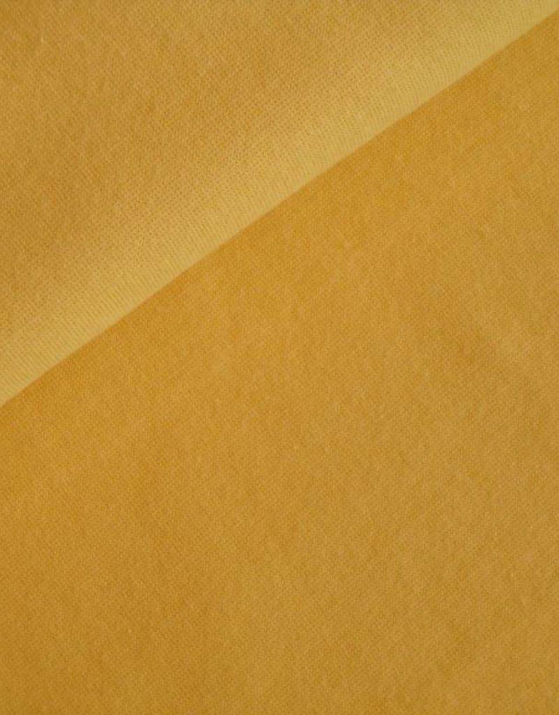 Boordstof uni geel
