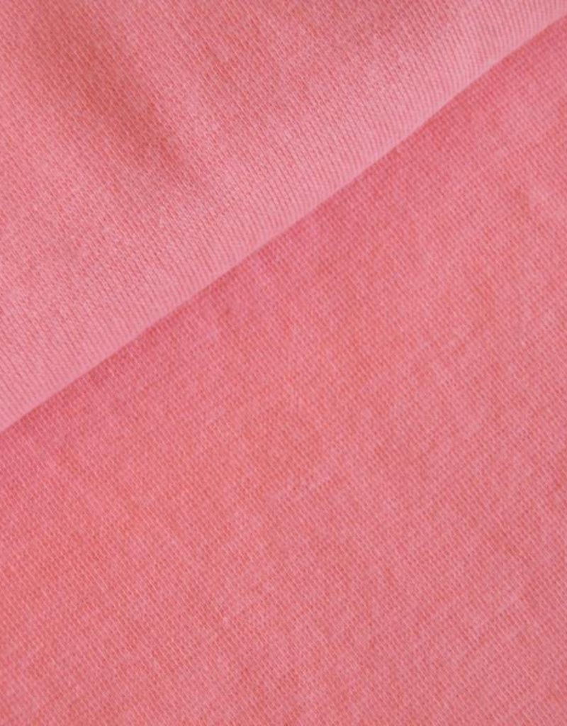 Boordstof uni zalm roze