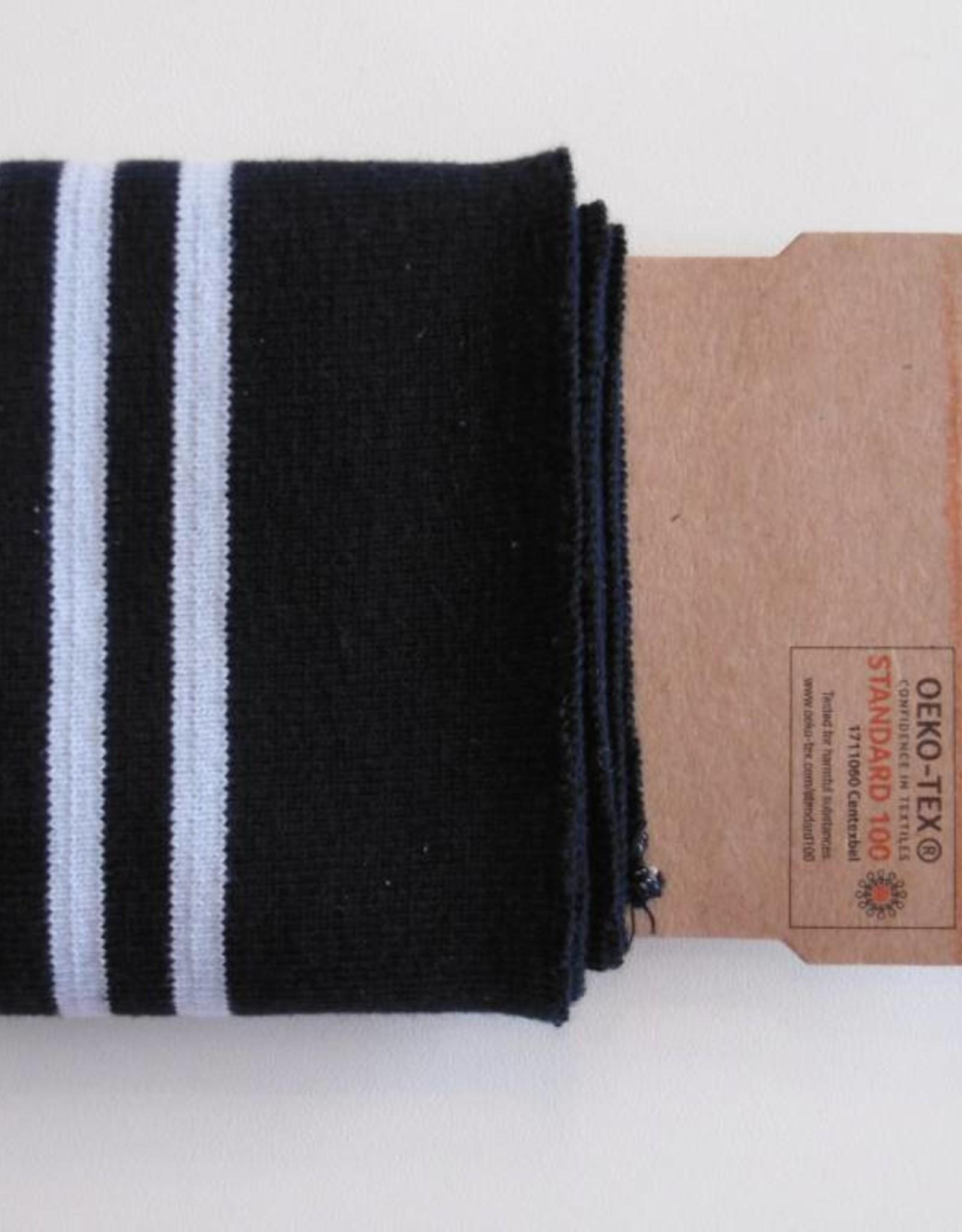 Cuffs strepen blauw/lichtblauw 110*7cm
