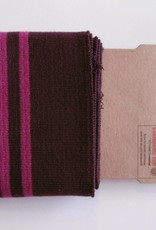 Cuffs strepen bordeaux/roze 110*7cm