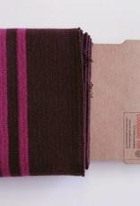 Cuffs strepen bordeaux/roze