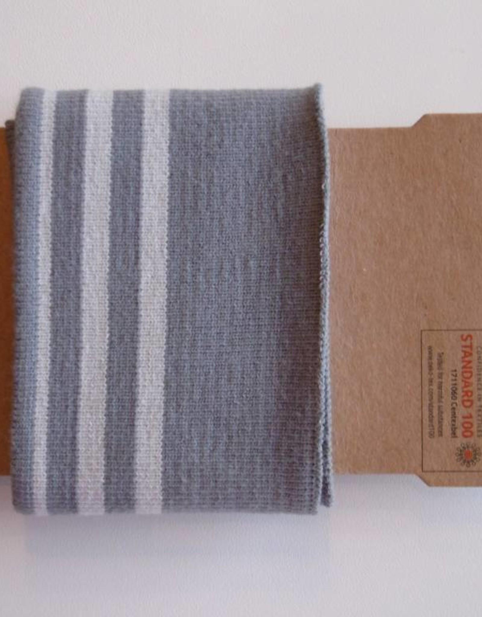 Cuffs strepen grijs/licht grijs 110*7cm