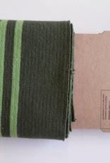 Cuffs strepen leger groen/lime