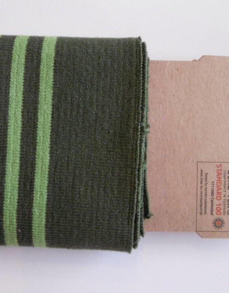 Cuffs strepen leger groen/lime 110*7cm