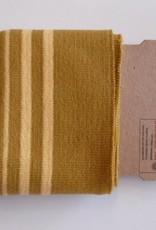 Cuffs strepen oker/geel 110*7cm