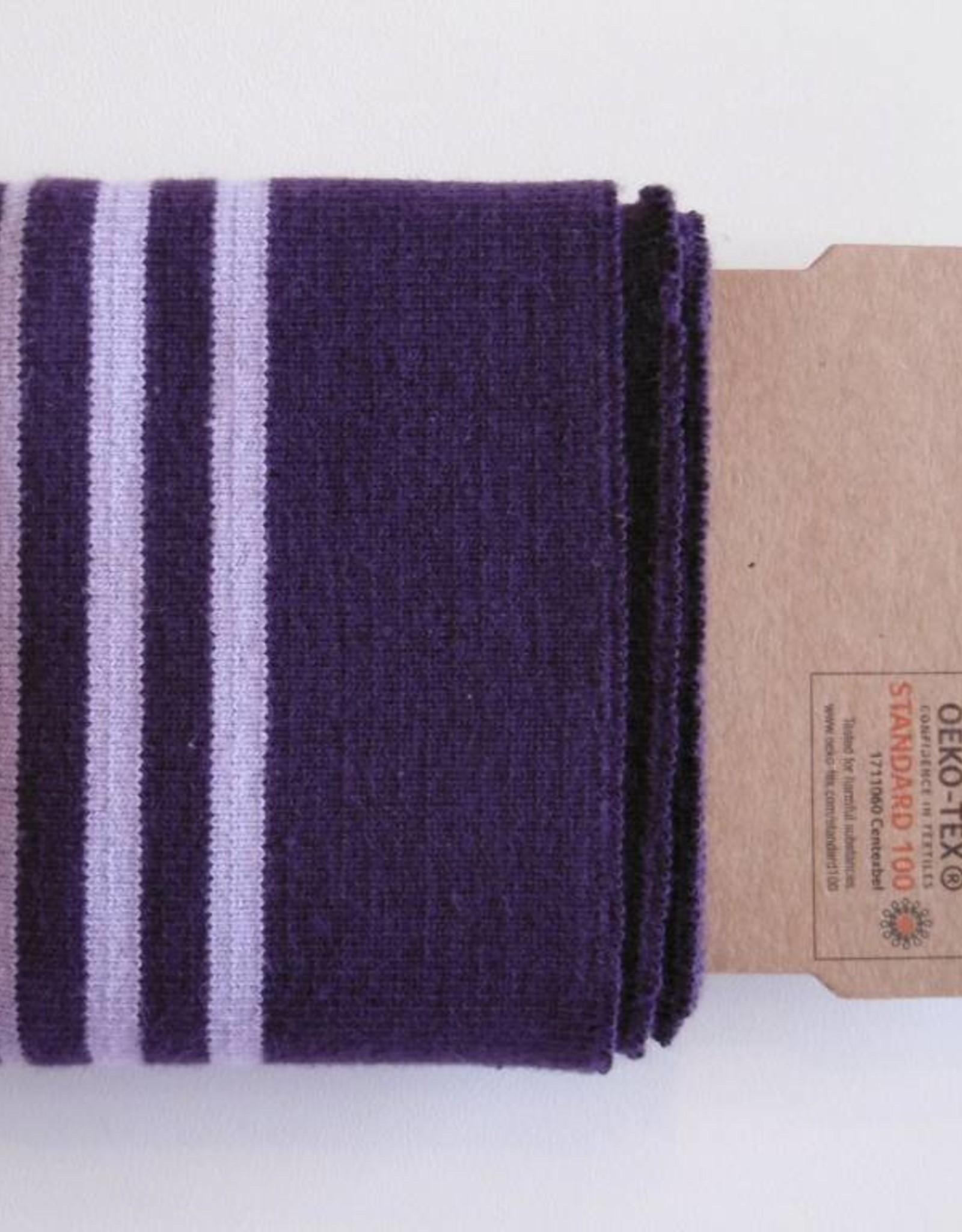 Cuffs strepen paars/lila 110*7cm