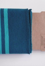 Cuffs strepen petrol/aqua blauw 110*7cm