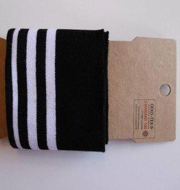 Cuffs strepen zwart/wit