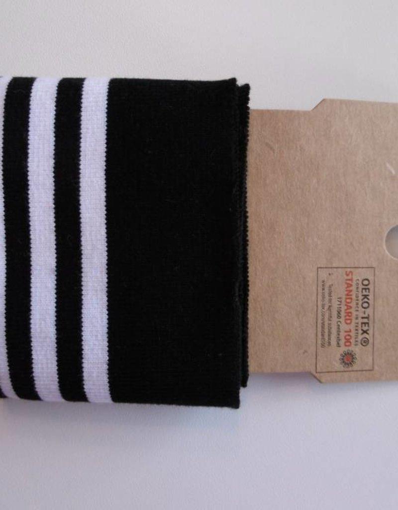 Cuffs strepen zwart/wit 110*7cm