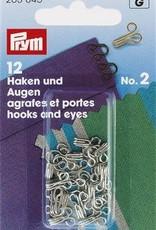 Prym HAKEN & OGEN MS 2 ZILVER 12st