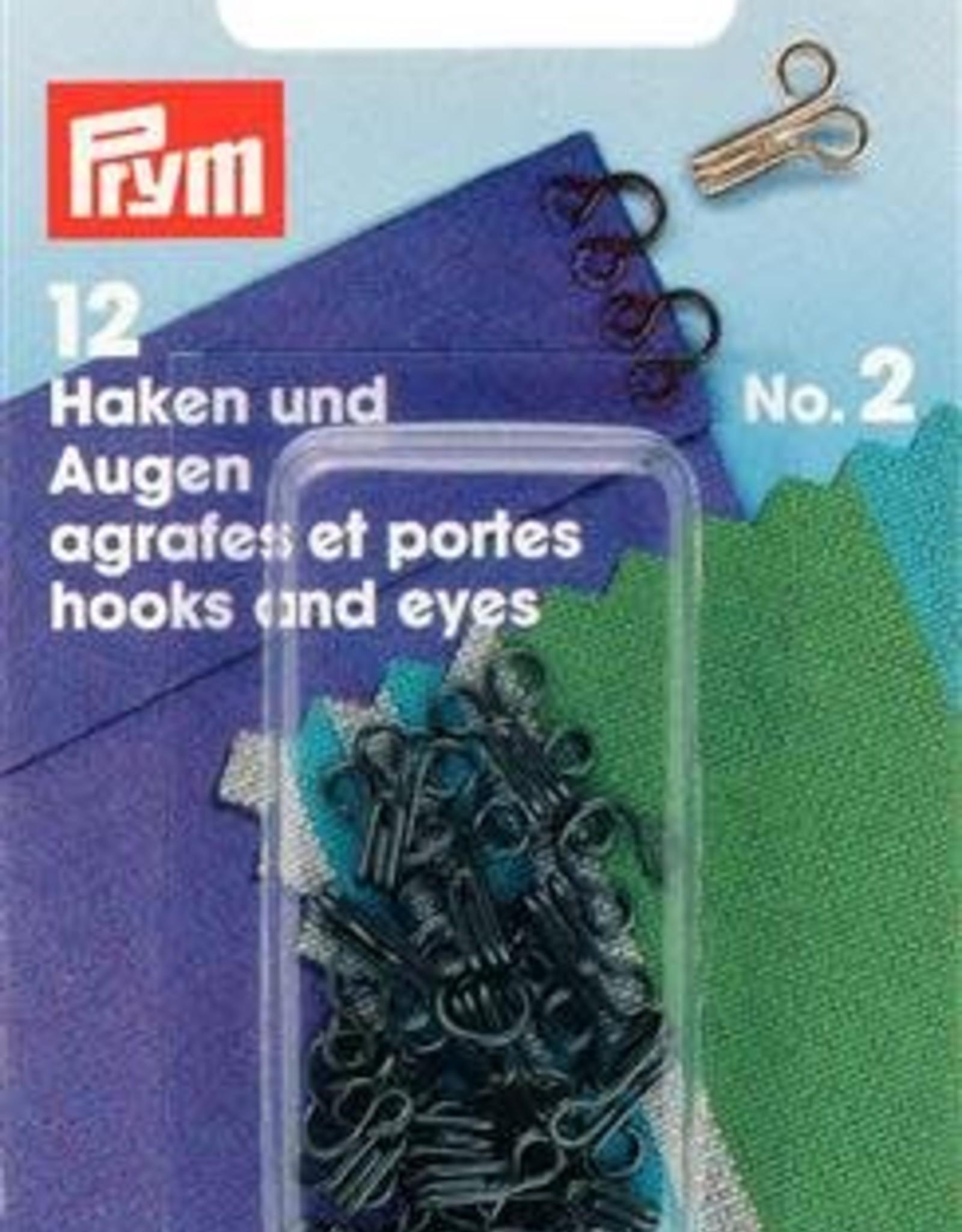 Prym HAKEN & OGEN MS 2 ZWART 12st