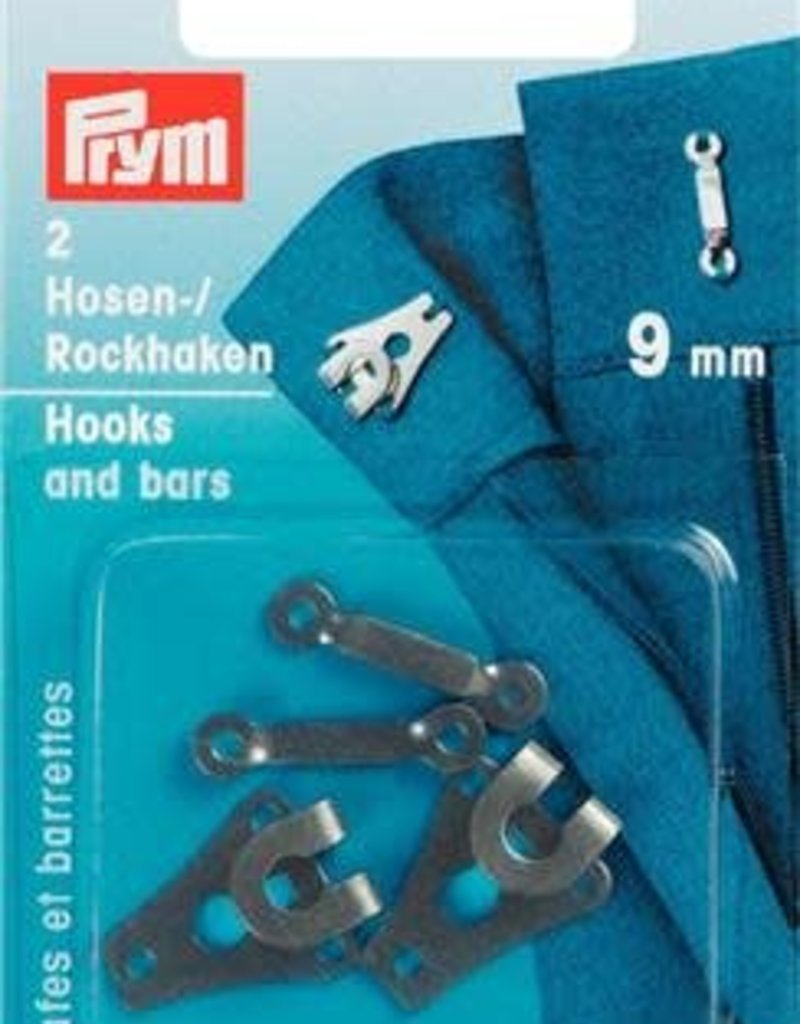 Prym BROEK-EN ROKHAKEN 9mm ZWART 2st