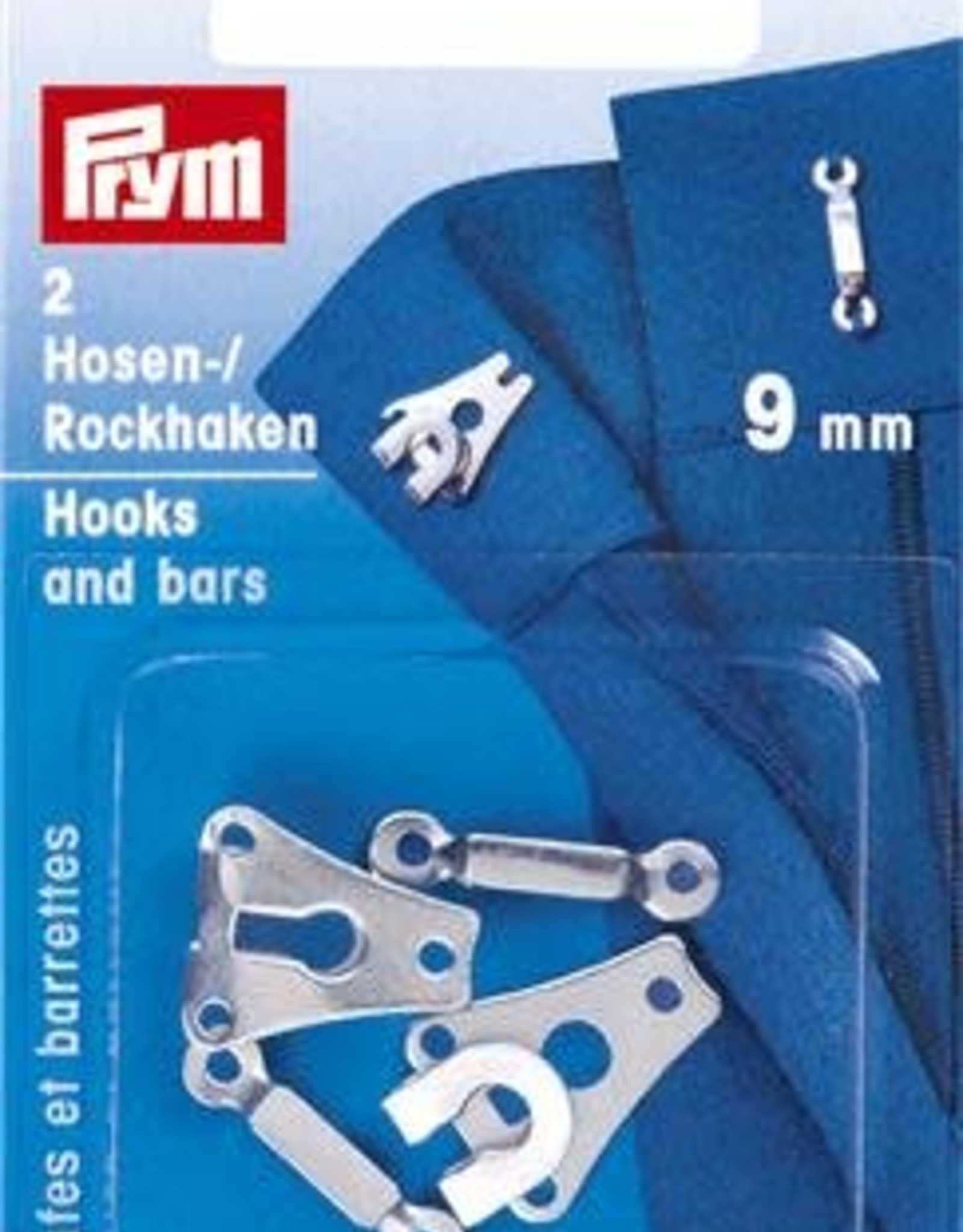 Prym BROEK-EN ROKHAKEN 9mm ZILVER 2st