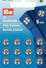 Prym AANNAAIDRUKKNOPEN 9mm ZILVER 12st