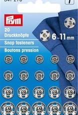 Prym AANNAAIDRUKKNOPEN 6-11mm 20st