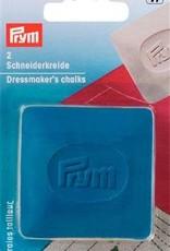Prym KLEERMAKERSKRIJT PLAATJES 5x5cm GEEL/BL 2st