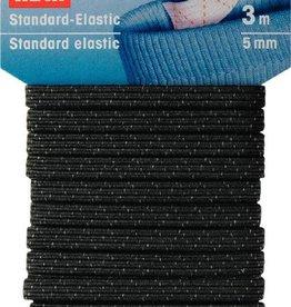 Prym STANDAARD ELASTIEK 5mm ZWART 3m