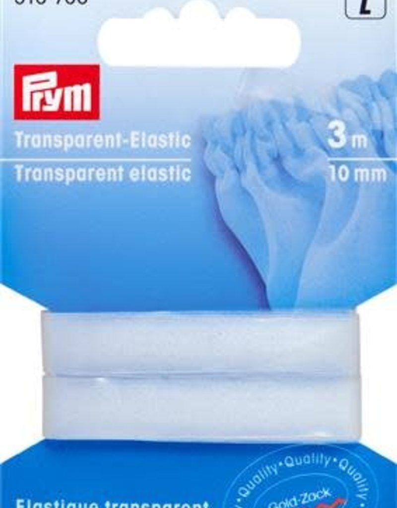 Prym TRANSPARANT ELASTIEK 10mm 3m